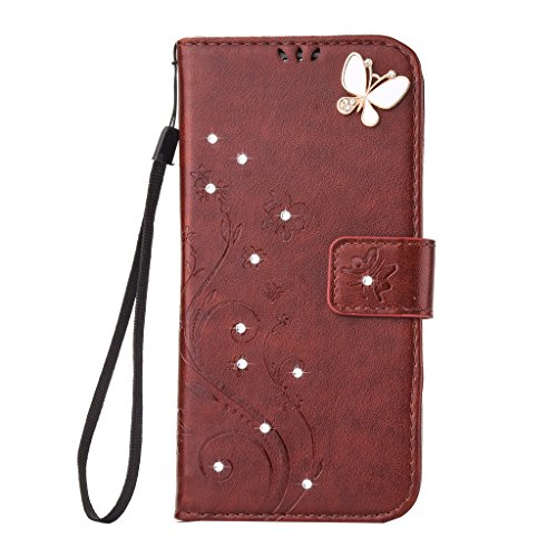 Mo-Beauty, Borsa bowling donna Gray Samsung Galaxy S6 Brown