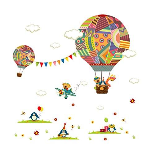 Air Balloon Wall Stickers Baby Kids Childen Room Fairy Decoration Background Art
