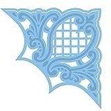 De Marianne Design. Creatables Troqueles con diseño Esquina de Anja, Metal, Azul, 7 x 7 x 0,4 cm