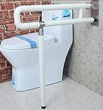 NAERFB Badezimmer Griff Barrierefrei Armlehne dickere Ältere Handläufe für Behinderte Bad/WC Dusche Badezimmer Falten Nylon Handlauf Handlauf (Farbe: weiß, Größe: 75 cm)