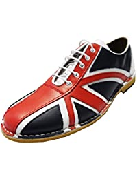 Delicious Junction Mens Red White and Blue Retro Union Jack