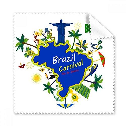 Halterung Corcovado Brasilien Karten Brasilien Carnival Rio de Janeiro Slogan Brille Reinigungstuch Reinigungstuch Geschenk Handy-Display von 5x