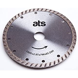 ATS 150mm x 22.23/20mm Turbo Diamond Blade Bushboard M Stone Max-Top Quartz Festool TS55