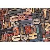 Printodecor 0046-657968169371 Alfombra Vinílica Impresa con Diseño Vintage, Multicolor, 143 x 97 cm