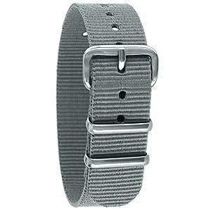 Pacific Time Unisex Nylon Uhrenarmband 10005