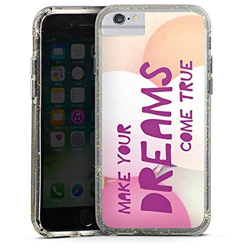 Apple iPhone 8 Bumper Hülle Bumper Case Glitzer Hülle Motivation Sprüche Sayings Bumper Case Glitzer gold