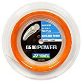 Yonex Saiten für Badmintonschläger BG80 Power, 200 m Reel Orange orange