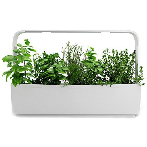 Tregren T12 Potager d'intérieur Connecté 12 plantes, Kit prêt à pousser et Jardinière Autonome pour herbes aromatiques, petits légumes, fleurs - Cultivez avec votre application smartphone - Blanc