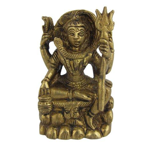 Mahadev Gott Shiva Statue Skulptur Messing Indische Deko 6,4 CM