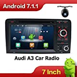 Android 7.1 7 pollici Quad Core Doppia DIN Car Stereo Radio Navigation per Audi A3 (2003-2011)Supporto Bluetooth/HD 1024 * 600/Mirror Link/DAB/Subwoofer/WiFi/AV out/AUX/SWC/4G Con Canbus e fotocamera