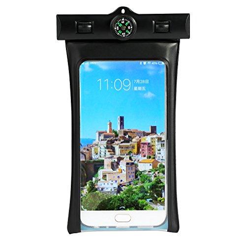 LEADSTAR Wasserdichte Hülle Tasche Beutel Handyhülle Handytasche Staubdichte Schützhülle mit Tragegurt Armband Kompass für iPhone 7 7s Plus Samsung S6 S7 S8 Huawei und Andere Smartpones bis zu 6 Zoll