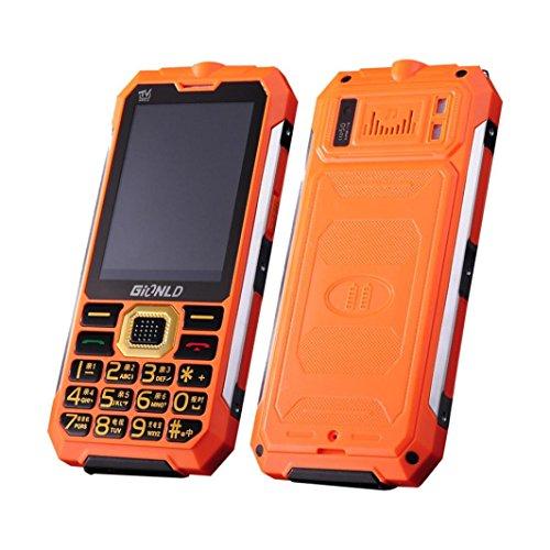 HKFV Mobiltelefon Entsperrt TV Handy Inhaber Telefon Englisch Tastatur Dual Sim Outdoor Taschenlampe Handy (Rot) (Dual Quad-band Handy Entsperrt Sim)
