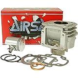 zylinderkit Airsal Sport 50Cc De Aluminio Para Aprilia, Amico (1991–1992), (a partir de 1993), GL, deportes, SR 50(hasta 1994), MBK, Booster, Slider, Yamaha, BWS, Stunt, Target, Zuma