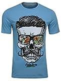 JACK & JONES Herren T-Shirt JORsoytan Tee SS Crew Neck Skull Print, (Norse Blue,M)