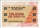 Party Einladungskarte zum 18. Geburtstag im coolen Ticket Look: Die Vorstellung...