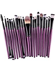 Tonsee® 20pcs / outils mis en brosse de maquillage Make-up Trousse de toilette Laine Make Up Brush Set