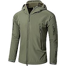 YFNT Cappotti con Cappuccio Softshell UomoAbbigliamento tattico Militare  Caldo Camouflage Tattico Impermeabile Impermeabile Cappotto di Abbigliamento 6db90e6a291b