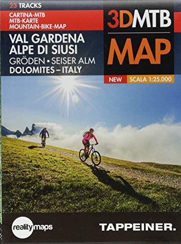 Mountainbike-Karte Gröden / Seiser Alm: Cartina Mountainbike Val Gardena / Alpe di Siusi (Mountainbike-Karten / Cartine Mountainbike) -