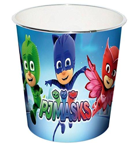 PJ Masks Kinder Papierkorb Mülleimer Kunststoff Abfalleimer Eimer Pyjamahelden