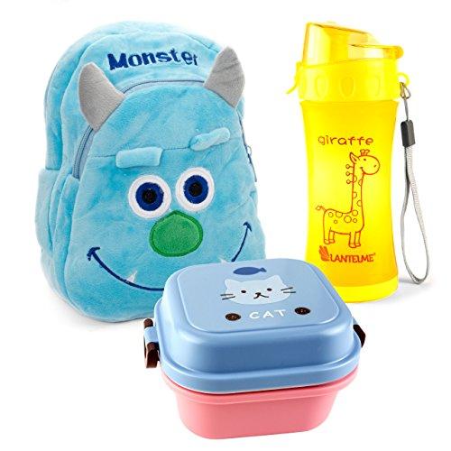 lantelme-5991-ninos-mochila-monster-fiambrera-y-botella-en-juego-para-guarderia-kinderkrippen-y-viaj