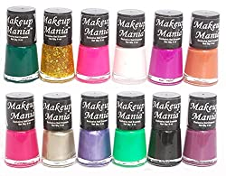 Makeup Mania Exclusive Nail Polish Set of 12 Pcs (Multicolor Set  82)