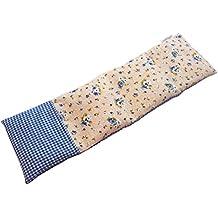 Saco térmico de semillas de trigo y eucalipto con funda lavable 50x16cm (Vichy azul)