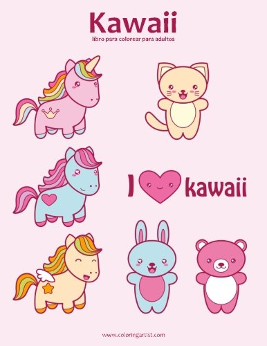 Kawaii libro para colorear para adultos 1: Volume 1 por Nick Snels