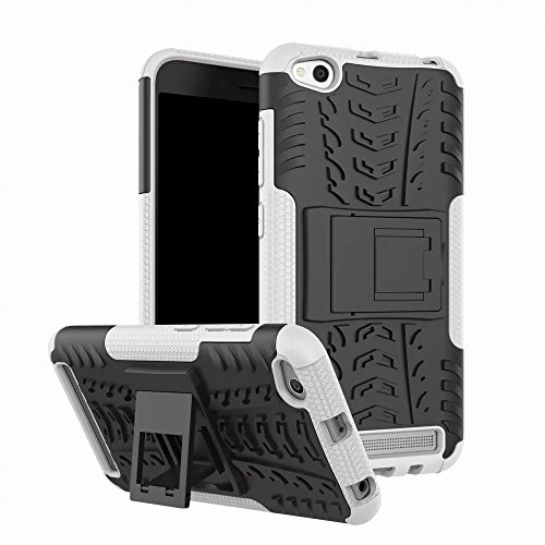 GOGME Funda para Xiaomi Redmi 5A, Armadura Híbrida Plegable Case, Blanco