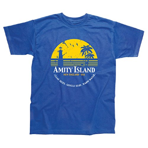 Postees Amity Island Jaws T-Shirt - S to XXL