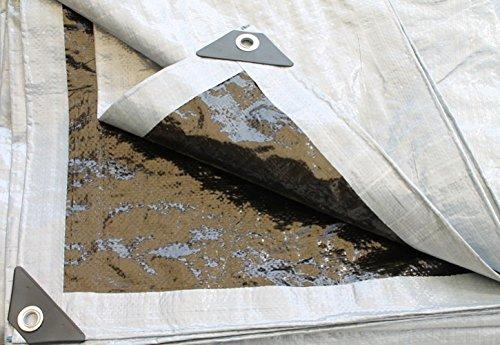 Preisvergleich Produktbild YACCU VORZELTPLANE 7x2,5 m GEWEBEPLANE mit Ösen silber-schwarz