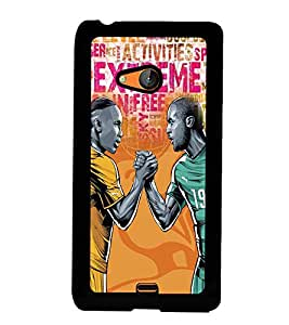 Fuson Premium Spirit Of Play Metal Printed with Hard Plastic Back Case Cover for Microsoft Lumia 540