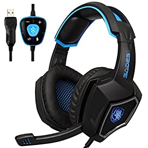 Gaming Headset, All Platform Stereo PS4 Kopfhörer, Gaming-Headset mit Mikrofon, das mit PC-Computern kompatibel ist…