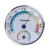 Wanfor Thermometer, Hygrometer, Kunststoff, für drinnen und draußen, Temperatur- und Feuchtigkeitsüberwachung, rund, klein, exquisit, kabellos, für Luftbefeuchter, Luftentfeuchter, Gewächshaus, Garten, Haus, Büro, Babyzimmer, sicher und benutzerfreundlich