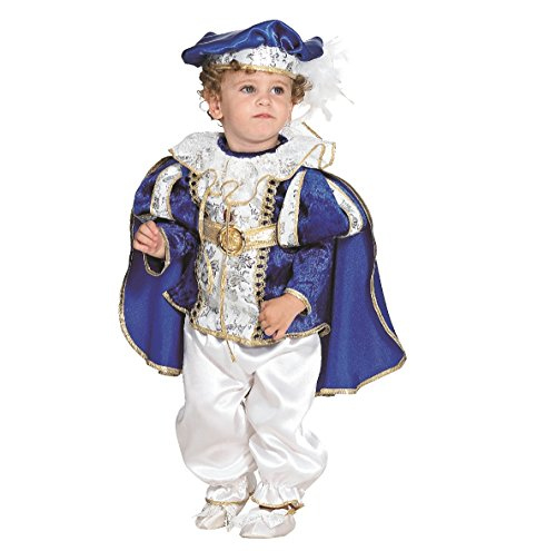 Baby Kostüm König Karl, blau (86)