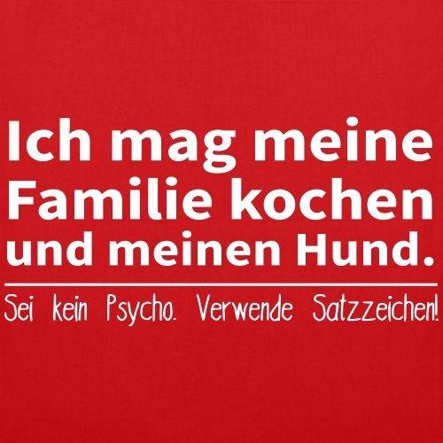 Grammatik Familie Kochen Stoffbeutel von Spreadshirt® Rot