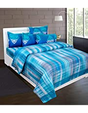 Beautiful Homes 300 TC Pure Cotton Hemritage King Size Bedsheet with Two Pillow Covers