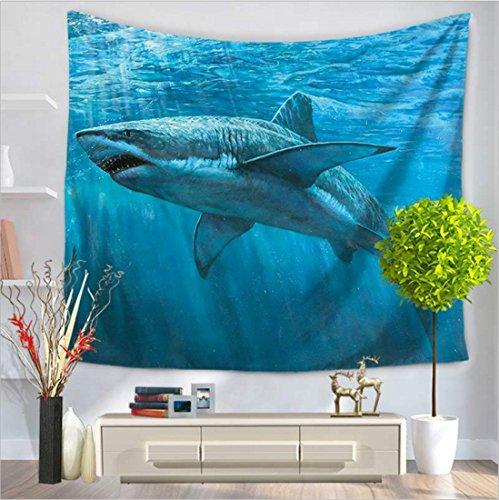 WSZYD Tapisserie / rechteckige Marine Shark Serie Wand / Strand Teppich / Multipurpose Indoor & Outdoor ( Color : A , Größe : 150*130cm ) (Marine-indoor-outdoor-teppich)