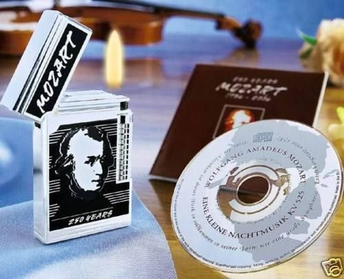 MOZART Reibrad-Feuerzeug-Klassiker mit CD & Zertifikat