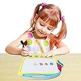SGILE Spielzeug Holz Zeichnen und Magnetische Buchstaben Zahlen Tiere Magna Gekritzel Lernenbrett Doppelseitig Fischen Schreibenbrett Kindergeschenk -