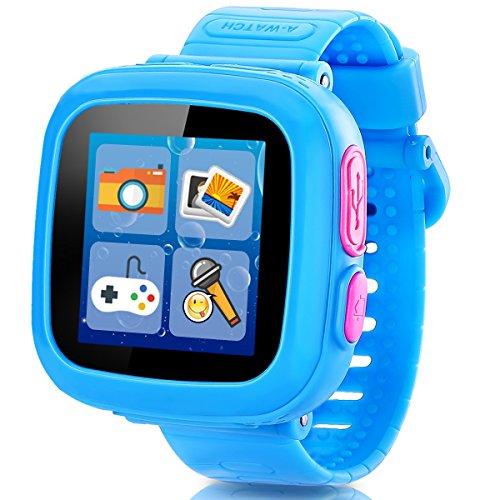 Spiel Kids Smart Watch für Kinder Mädchen Jungs mit Kamera 1.5 '' Touch 10 Spiele Schrittzähler Timer Wecker Spielzeug Smartwatch Armbanduhr Gesundheit Monitor (01Blau)