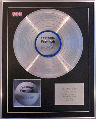 Teenage Fanclub-Limited Edition CD Platinum Disc-Tredici