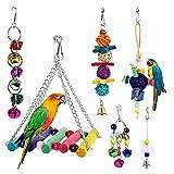 Dightyoho 6pcs Juguetes Coloridos para Pájaros en Juala, con Columpio...