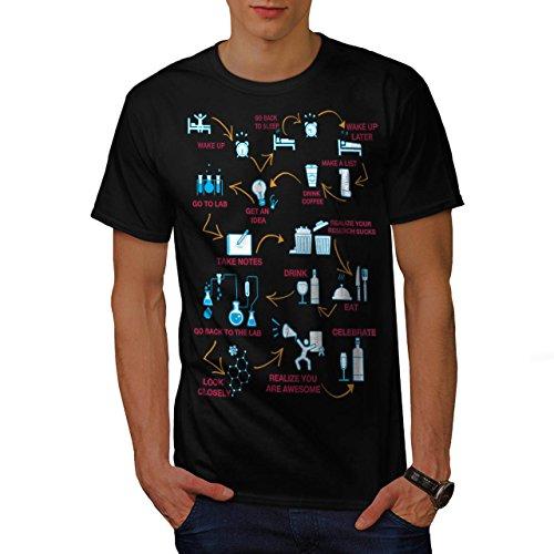 chimie-nerd-la-vie-laboratoire-homme-nouveau-noir-xl-t-shirt-wellcoda