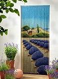 "Bamboo door curtain bamboo curtain door curtain ""Lavender"" approx. 90x200 cm"