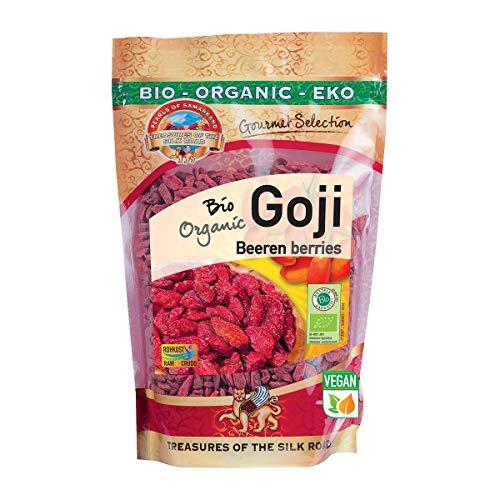 Bio Goji Beeren extra groß 500g Gojis Gojibeeren roh Rohkost extra groß 500 gr Gramm gr 0,5 kg