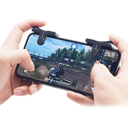 Kobwa Mobile Game Controller, Upgraded 1Paar Sensitive Kupfer Shoot und Ziel Tasten für pubg/fortnite/Rules of Survial Fit für Android und IOS System