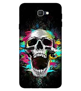 Takkloo colourful skull black background,open mouth, trendy cover) Printed Designer Back Case Cover for Samsung Galaxy J7 (2017) :: Samsung Galaxy J7 2017