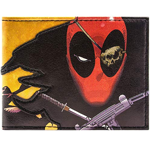 Cartera amarilla de Marvel Deadpool