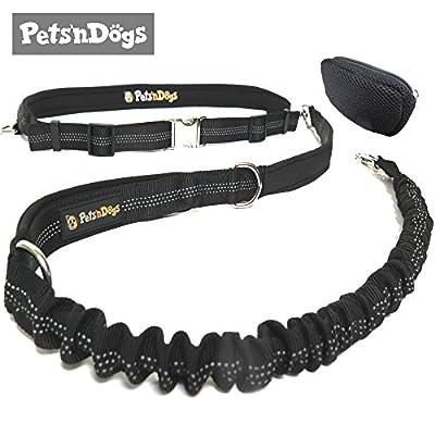 Premium Jogging-Leine   Sichere Metall-Komponenten   Umweltfreundliche Verpackung   Softer Neopren-Bauchgurt   2 Gratis Booklets   Pets'nDogs