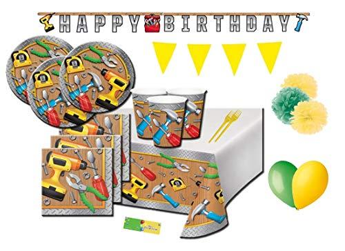 Creative converting kitn 54 officina handyman bricolage addobbi festa compleanno bambino